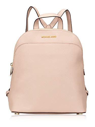 Michael Kors Emmy Large Leather Backpack in Pastel Pink