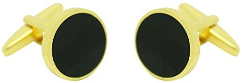 masgemelos–Obsidienne Noir Boutons de manchette Cufflinks