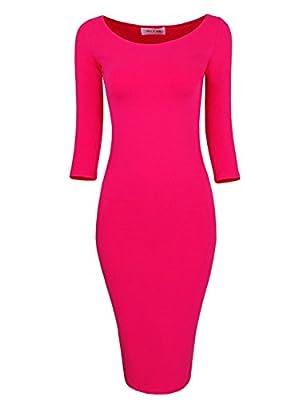 Tom's Ware Womens Classic Slim Fit Bodycon Midi Dress