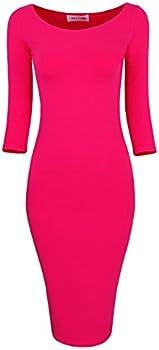 Tom's Ware Women's Classic Slim Fit Bodycon Midi Dress