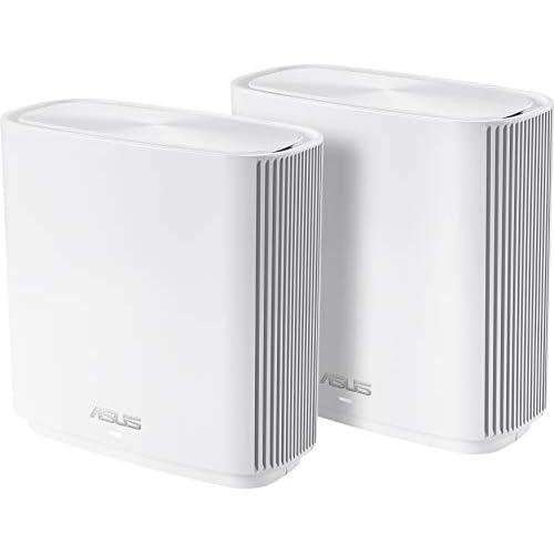 chollos oferta descuentos barato ASUS ZenWifi CT8 Sistema Wi Fi Mesh Tri Banda AC3000 Pack de 2 Cobertura de más de 500m2 AiProtection con TrendMicro 4 Puertos Gigabit Adaptive QoS Compatible con AiMesh Blanco