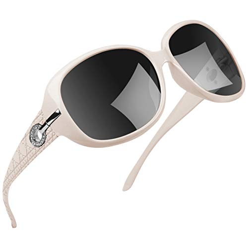 Joopin Polarized Sunglasses for Women Vintage Big Frame Sun Glasses Ladies Shades - Sunglass Black Glass Frame