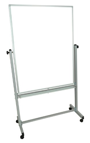 Single Sided Dry Erase Framed - EverWhite Style D Single Sided Mobile Magnetic Aluminum Framed Board, 72