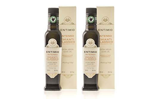 - Entimio Intenso | Tuscany Medium-Robust Olive Oil Extra Virgin | 2018 Harvest, 2019 NYIOOC Gold Award, Fruity, Estate Bottled, Italy, Rich in Antioxidants | 16.9 fl oz (Pack of 2 x 8.5 fl oz)