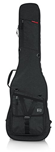 (Gator Cases Transit Series Bass Guitar Gig Bag; Charcoal Black Exterior (GT-BASS-BLK))