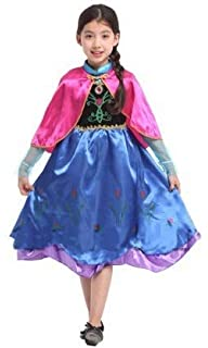 Krazy Toys Disfraz Princesa Anna Niña (8-10 años): Amazon.es ...