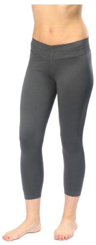 NUX Women's V-Fitness Crop Pant, Titanium, Large