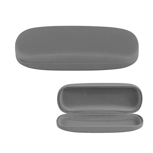 Hard Shell Eyeglass Case, Protective Case for Glasses and Sunglasses-(Grey)