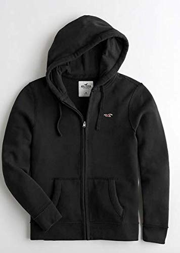HOLLISTER SOLD OUT SHERPA. - LOGO BLACK SHERPA ZIP UP SIGNATURE/HOODIE/JACKET. / COAT SIZE LARGE. MADE WELL