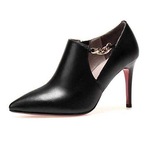 Creusés Boutons Automne Chaussures Femme Hiver DANDANJIE Noir et Mode qBHOUC