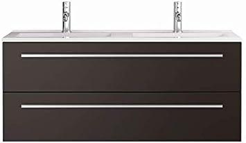 Waschtischunterschrank mit Waschbecken Libato 60 90 120 cm - weiß anthrazit Eiche grau Hochglanz - Badmöbel Badezimmermöbel Unterschrank hängend...