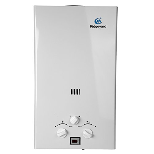Iglobalbuy Calentador de agua a gas atmosferico sin tanque Calentador de agua a Gas GLP Butano Propano (10L)