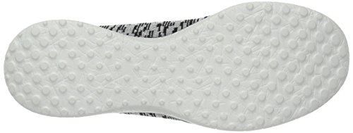 Skechers Femmes Microburst Made You Look Slip-On Baskets - Noir et Argent