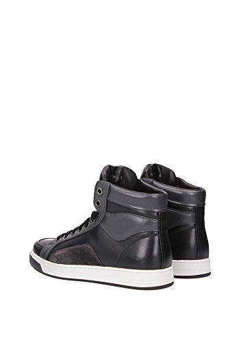 Alte Plume Uomo Scarpe Color Sneakers Nero in Prada Pelle Nero Nuove 0BECxwwq