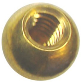 Ten 1/2'' dia. threaded 1/4-20 brass balls drilled tapped lamp finials by Bearing Ball Store (Image #4)