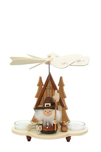 1-tier German Christmas Pyramid - Nightwatchman natural - 19,5cm / 8 inch - Christian Ulbricht