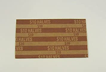Fifty Cent 20 Half Dollar Pop-Open Flat Paper Coin Wrappers