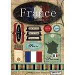 Cardstock Stickers Phrases Scrapbook - Scrapbook Customs - World Collection - France - Cardstock Stickers - Travel