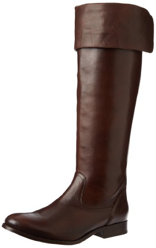FRYE Women's Melissa Over the Knee Boot, Dark Brown Smooth Vintage Leather, 8 M US by FRYE