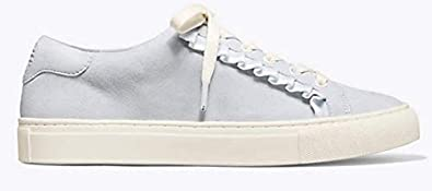 79e5673c4 Image Unavailable. Image not available for. Color  Tory Sport Ruffle  Sneaker Suede Light Blue Tory Burch 11