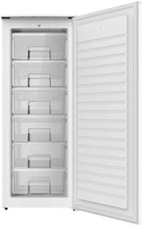 1,43 m de alto x 55 cm de ancho con clasificaci/ón energ/ética A+ color blanco Congelador Vertical PROXY