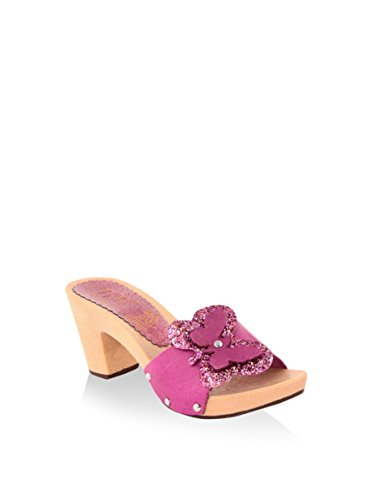 hh-Made in Italy Mules Fucsia EU 36
