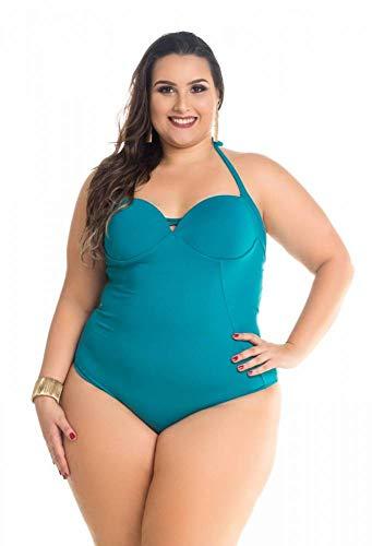 Maiô Plus Size Com Recortes Maré Brasil > M