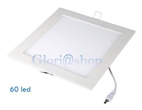Plafoniera Quadrata Led Soffitto : Pannello led smd luce bianca plafoniera incasso quadrato w
