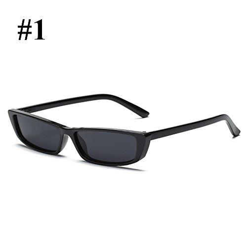 Gafas de Ladies Hanbaili al Sexy de Mujer retro black ash moda sol Gafas libre aire para bright TWIIr0A