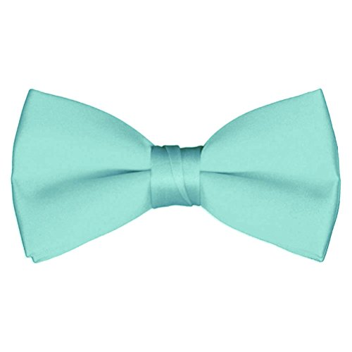 Boys' & Adult Deluxe Satin Adjustable Bow Tie By Tuxgear (Boys, Mint)