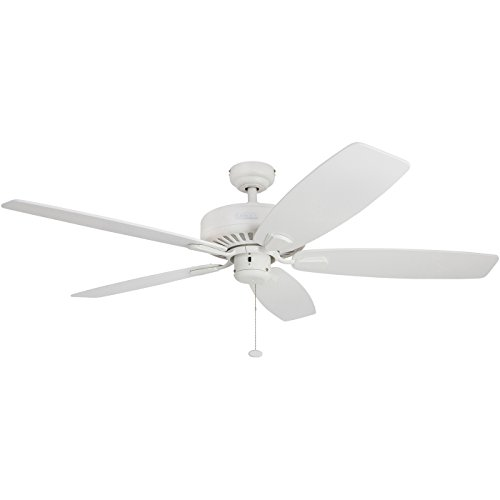 Honeywell Sutton 52-Inch Ceiling Fan, Energy Star Certified, Five Reversible White/Maple Blades, White by Honeywell Ceiling Fans