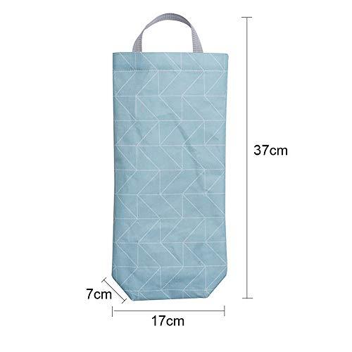 JINM Bolsa de plástico para bolsas de basura, soporte de pared, dispensador de bolsas de alimentos, organizador de bolsas de basura con apertura superior e ...