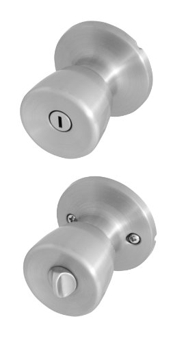 Honeywell 8100302 Tulip Privacy Door Knob, Satin Nickel