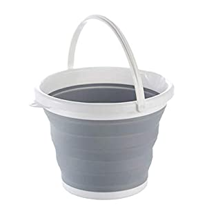 Collapsible Plastic Bucket,Folding Round Bucket Thickened Mop Bucket Household Hanging Type Fishing Bucket Compatible House Cean Fishing