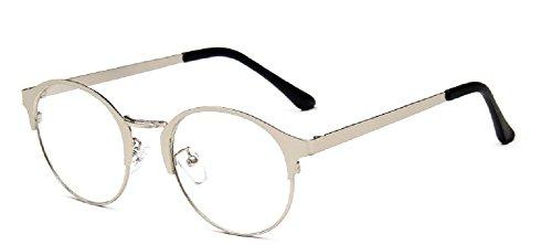 Embryform lunettes rondes en acier cadre ultral¡§?ger bross¡§? sens du cortex des montures de lunettes 9736