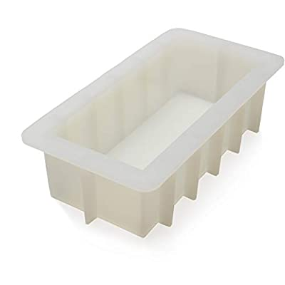 "CAFOLO Loaf Soap Silicone Mold 8"" Rectangular White Mold 40 to 44 oz for DIY Soap Making from Cafolo"