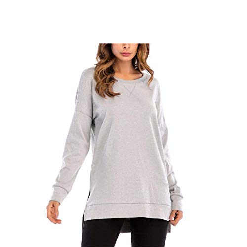 Longues Gris color Manches Manches Shirt T Manches Gris Manches Longues Longues FuweiEncore Longues L Taille Shirt T tqaw4W