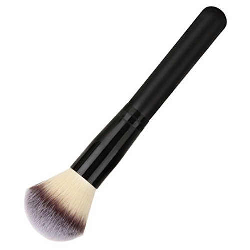 1 Pcs Makeup Brushes Set Wood Handle Powder Fiber Soft Face Make Up Tool Professional Natural Beauty Palette Eyeshadow Beautiful Popular Eyes Faced Colorful Rainbow Hair Highlights Glitter Travel Kit Mineral Finishing Powder Refill