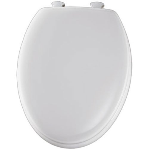 Mayfair 144ECA 000 Molded Wood Toilet Seat with Easy-Clean & Change Hinges, Elongated, White (Bathroom Sets Canada)