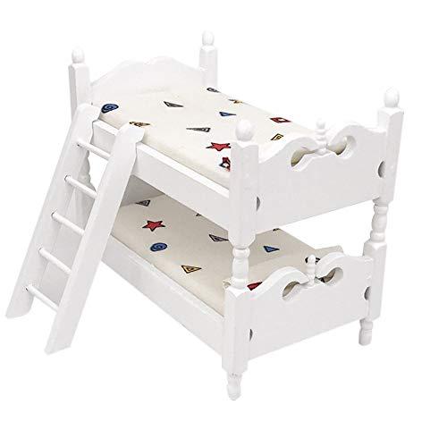 LtrottedJ Mini Dollhouse Furniture Bed Set Miniature Living Room Kids Pretend Play Toy (B) ()