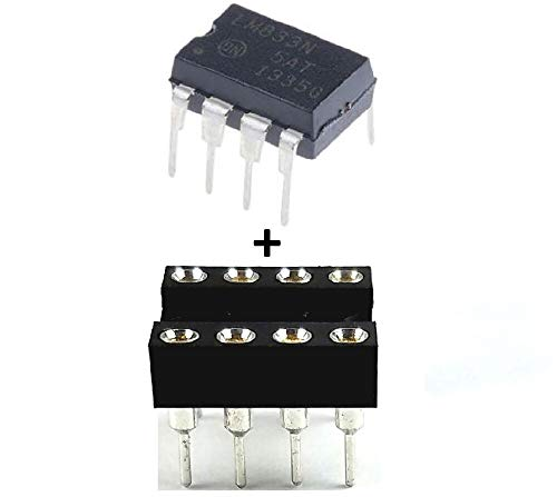 (5PCS ON Semiconductor LM833NG LM833 + Sockets Dual Operational Amplifier IC)