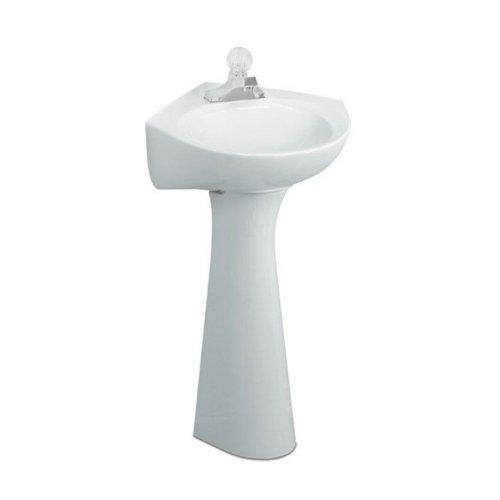 American Standard 0611.100.020 Cornice Pedestal Lavatory Sink, (Corner Pedestal Lavatory)