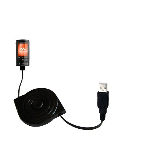 USB Power Port Ready retractable USB charge USB cable wired specifically for the Sony Ericsson w960i and uses (Ericsson Mp3)