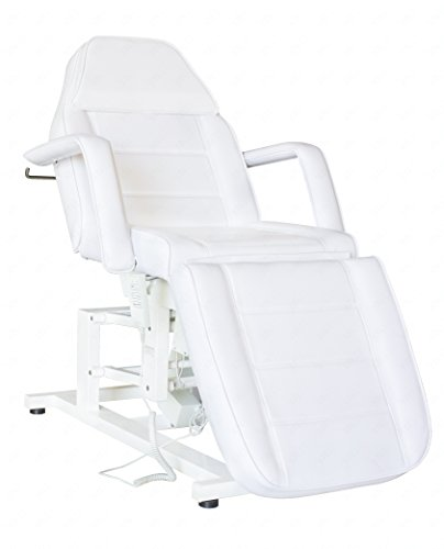 (Electric Facial Chair, Massage Chair with Three 3 Motor (WHITE))