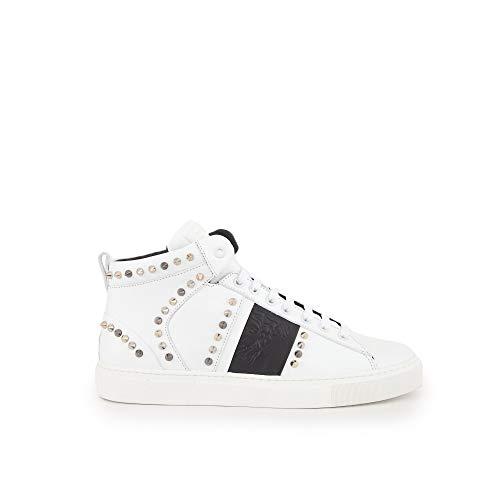 Pelle Borchie Versace Uomo Sneaker Collection Scarpa Bianco Alto qw1FH7