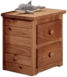 Chelsea Home Furniture Night Stand with 2 Drawer, Mahogany Stain
