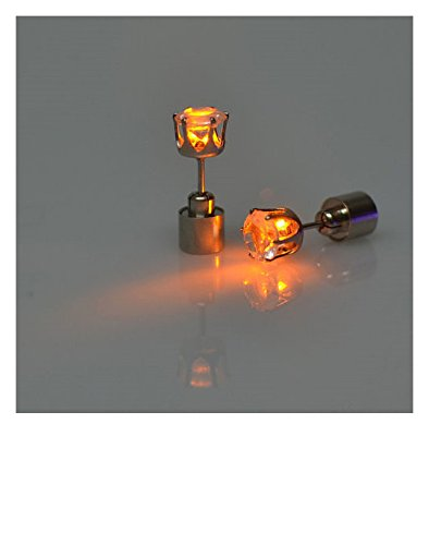 Vale® Boucles d\'oreilles LED Light Up Couronne Glowing inoxydable en cristal Oreille Goutte Stud Oreille