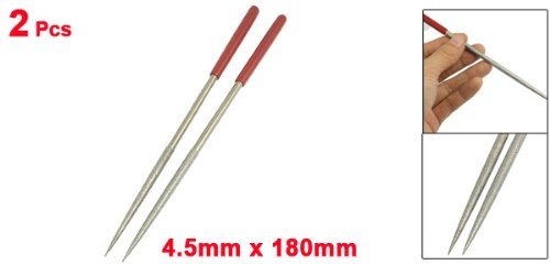 Uxcell a12103000ux0325 uxcell 4.5 mm x 180 mm Lapidary Jeweler Round Rat Tail Diamond Needle Files 2 Pcs (Pack of 2)