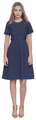 Marycrafts Womens Classy Vintage 1960s Office Work A Line Dress 16 Dark Blue -