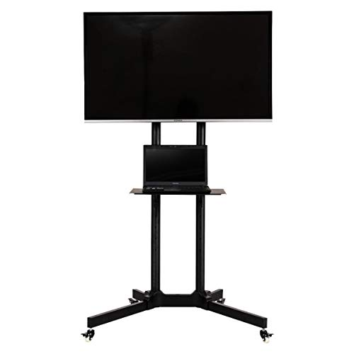 Price comparison product image MRT SUPPLY Plasma Flat Screen TV Cart Stand w / Wheels Mobile Fits with Ebook